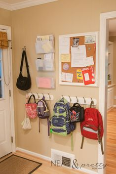 I love the hangers for book bags!
