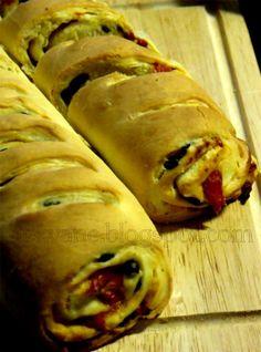 hekvanc: Sült paprikás - olívás kelt