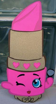 Shopkins Party Decoration Shopkins Lippy Lips by KsPaperieDreams Bolo Shopkins, Fete Shopkins, Shopkins Bday, Party Decoration, Paper Decorations, 6th Birthday Parties, Girl Birthday, Toddler Girls, Toilet Paper Rolls