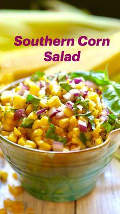 Corn Salad Recipes, Relish Recipes, Best Salad Recipes, Corn Salads, Vegetable Recipes, Vegetarian Recipes, Cooking Recipes, Healthy Recipes, Recipes With Corn