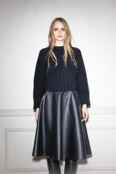 Total look by (NUDE) trend top + leather skirt from the fall/winter 15 womenswear collection http://www.betosee.com/collection/59155