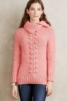 Cabled Vines Pullover