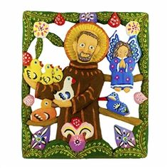Saint Francis of Assisi acrylic | St. Francis of Assisi carved and painted (acrylic) by folk artist ...
