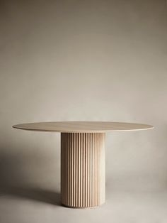Palais Royal Dining Table - White Stained Oak Circular Dining Table, Dining Table Design, Modern Dining Table, White Round Dining Table, Table Furniture, Furniture Design, Royal Table, Oak Panels, Design Hotel