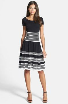 kate spade new york cotton knit swing dress available at #Nordstrom $348 - gold summer dresses, find dress, white and pink dress *ad