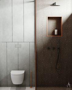 Green Apartment, Apartment Interior, Bathroom Design Inspiration, Bathroom Interior Design, Laundry In Bathroom, Washroom, Art Deco Home, Colorful Interiors, Modern Design