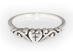 Heart With Cross Ring - Christian Rings for $54.99   C28.com