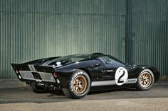 This GT40 was once owned by George Stauffer of Blue Mounds, Wisconsin. George answered an ad for a Ford Cobra and found this car in crates in Belgium. Restoration on the car was begun by the previous owner, who went to jail and the car was confiscated. It won the 1966 24 Hours of Le Mans