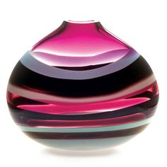 Caleb Siemon Amethyst Low Oval Vase