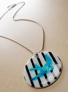 DIY Shrinky Dink pendant necklace. - Mod Podge RocksMod Podge Rocks
