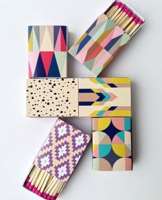 Decorative Matchboxes set of 6 by BelloPop on Etsy