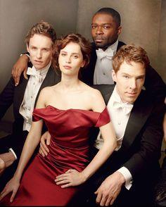 Eddie Redmayne, Felicity Jones, David Oyelowo, and Benedict Cumberbatch