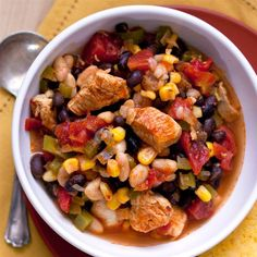 McCormick | Fall LookBook...Chicken Chili with Black Beans and Corn