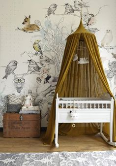 Whimsical Scandinavian Nursery with Gold and Cream Gender Neutral Theme | By Georgia Grace