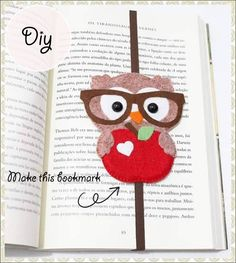 Cute Owl felt bookmark tutorial.