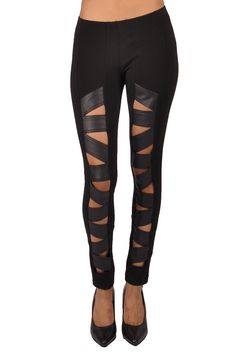 5ac9efbef1 Tripp NYC Z Cut Faux Leather Legging - TrashandVaudeville.com Trash And  Vaudeville