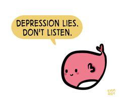 Depression lies. #mentalhealth #depression #mhcomics