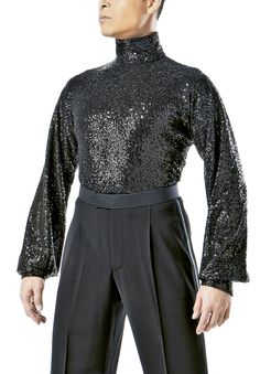Taka Mens Sequined Latin Shirt w/ Inner Pants MS244 | Dancesport Fashion @ DanceShopper.com