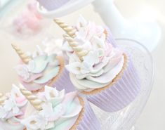 Unicorn cupcakes by Wish Upon a Cupcake