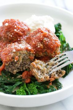 Slow Cooker Beef Meatballs with Broccoli Rabe | Skinnytaste | Bloglovin'