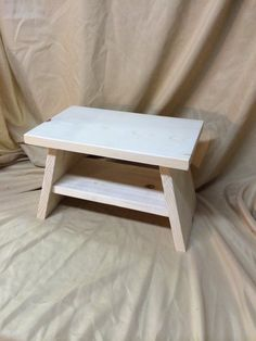 Hand Made Wooden Step Stool, Unfinished And Ready To Be Painted