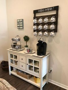 Coffee Anyone? Coffee and/or Tea Cup Mug holder Rustic Farmhouse Pallet Sign