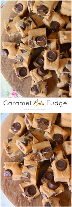 ❤️ Simple, Easy, and Utterly Delicious 4 Ingredient Caramel Rolo Fudge! No Sugar Thermometers, No Boiling, Just Quick & Easy! is part of Delicious fudge recipe - Delicious Fudge Recipe, Best Fudge Recipe, Fudge Recipes, Candy Recipes, Baking Recipes, Sweet Recipes, Delicious Desserts, Dessert Recipes, Yummy Food