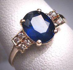 Sapphires > Diamonds  Antique Vintage 1.5ct Royal Blue Sapphire by AawsombleiJewelry, $2895.00