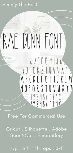 The Best Rae Dunn Font - This is the top selling Rae Dunn font on Etsy! Free for commercial use and comes in SVG format, perfect for your Cricut projects! Free Fonts For Cricut, Font Free, Free Fonts Download, Best Free Fonts, Top Free Fonts, Cricut Images Free, Bold Fonts Free, Vintage Fonts Free, Free Svg Fonts