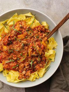 Apple_Pork_Ragu over pasta
