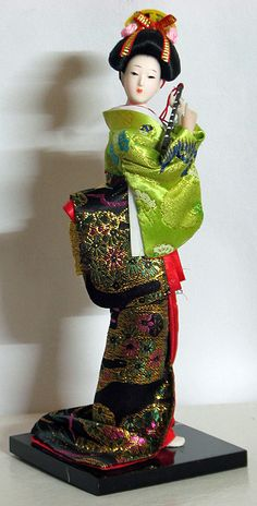 Japanese Lady Holding a Flute