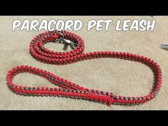 A paracord pet leash is a great project for those of us with pets…we have 2 dogs so we keep multiple leashes around. We also have many friends with dogs, and we like to give our leashes out… Cobra Weave, Paracord Dog Leash, Paracord Projects, Paracord Ideas, Dog Items, Old Dogs, Macrame Patterns, Collar And Leash, Training Your Dog