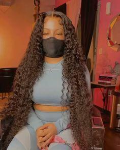 Black Girl Braided Hairstyles, Baddie Hairstyles, Black Women Hairstyles, Colored Weave Hairstyles, Weave Ponytail Hairstyles, Ponytail Styles, Cheap Human Hair Wigs, Long Hair Waves, Pelo Natural