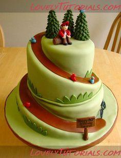 как вырезать торт в виде спирали How to Carve A Spiral Cake - Мастер-классы по украшению тортов Cake Decorating Tutorials (How To's) Tortas Paso a Paso