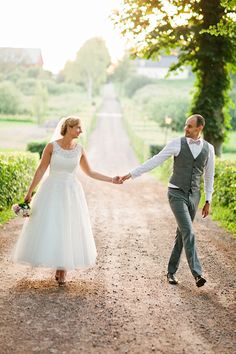 The cute couple at their Swedish countryside wedding, photo by 2 Brides Photography | junebugweddings.com