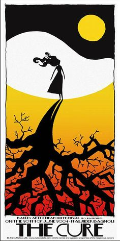 Gig poster for The Cure at Neapolis Fest in Italy in 2004 -  Malleus Rock Art Lab