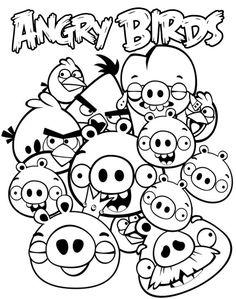 #angrybirds #kolorowanki #obrazki #ptaki #birds #coloring Bird Coloring Pages, Online Coloring Pages, Cartoon Coloring Pages, Printable Coloring Pages, Coloring Pages For Kids, Coloring Sheets, Coloring Books, Angry Birds Matilda, All Angry Birds