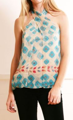 Cute pattern blouse.