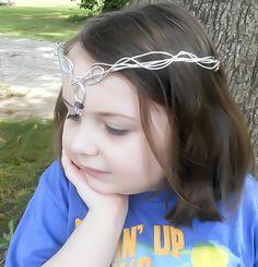 Crystal Tiara, Amethyst Tiara, Elven Tiara, Silver Tiara, Elven Circlet, Medieval Crown, Renaissance Crown, Wedding Tiara, Bridal Crown - pinned by pin4etsy.com