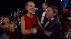 """And found out they won Outstanding Performance by an Ensemble in a Drama Series:   The """"Stranger Things"""" Kids Looked Too Freaking Cute At The 2017 SAG Awards"""