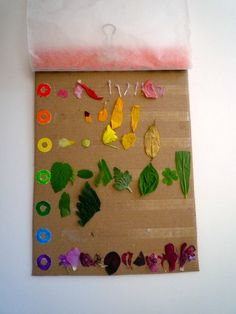 The best kids craft projects: rainbow nature collecting chart.