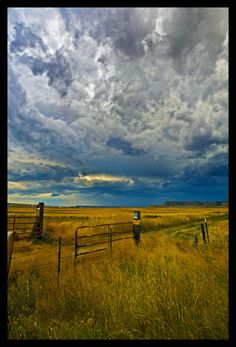 Storm on the ranch. - Molt, Montana
