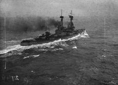 BRITISH BATTLESHIPS FIRST WORLD WAR (SP 2744)   HMS SUPERB underway, 1917.