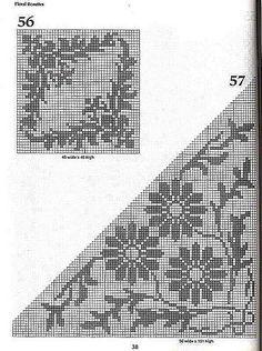crochet book - 101 Filet Crochet Charts - Raissa Tavares - Álbuns da web do Picasa Filet Crochet Charts, Crochet Borders, Cross Stitch Borders, Cross Stitch Patterns, Crochet Books, Crochet Home, Thread Crochet, Crochet Shawl, Crochet Curtains