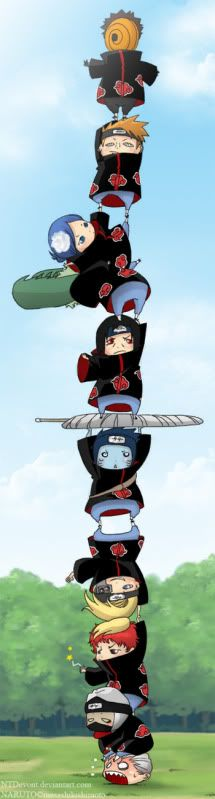 Akatsuki Chibi Tower tobiiii you are the king of the world. Anime Naruto, Manga Anime, Naruto Uzumaki Shippuden, Naruto Cute, Naruto Funny, Naruto Shippuden Sasuke, Naruto And Sasuke, Itachi Uchiha, Otaku Anime