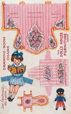 CASITA DE PAPEL: dollhouse paper: muebles antiguos, vintage furniture by tuckdb Paper Doll House, Paper Houses, Miniature Crafts, Miniature Dolls, Paper Furniture, Vintage Furniture, Doll Furniture, Furniture Stores, Cheap Furniture