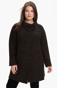 Eileen Fisher 'Eco Pebble Plaid' Jacket (Plus size) available at #Nordstrom