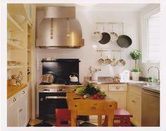 warm kitchen--Chef's Kitchen -Andre Rothblatt Architecture