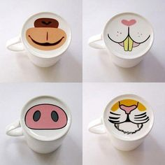 """Animal face mugs. Buy 99 cents store mugs and have kids """"paint"""" faces on them with sharpie.~ They must be OIL BASED Sharpies, regular sharpies will not work. Sharpie Crafts, Sharpie Art, Sharpies, Sharpie Mug Designs, Diy Mug Designs, Pottery Painting, Ceramic Painting, Homemade Gifts, Diy Gifts"""