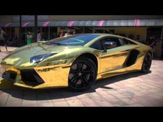 Worlds First Gold Plated Lamborghini Aventador LP700-4 unveiled